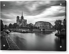 Cloudy Day On The Seine Acrylic Print