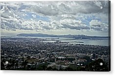 Cloudy Day Over The Bay Acrylic Print by Lennie Green