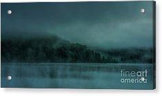 Cloudy Daybreak At The Lake Acrylic Print by Thomas R Fletcher