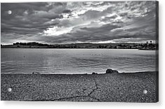 Cloudy East Bay Hills From The Bay Acrylic Print