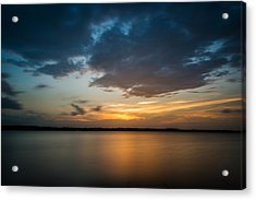 Cloudy Lake Sunset Acrylic Print