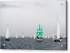 Cloudy Race Day Acrylic Print by Tom Dowd