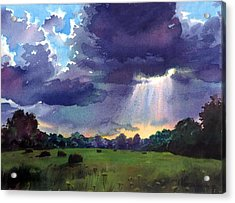 Cloudy Sky Acrylic Print by Sergey Zhiboedov