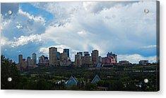 Cloudy Skyline Edmonton Acrylic Print