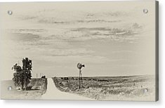 Cloudy Skys And Dirt Roads Acrylic Print by Wilma  Birdwell