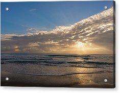 Cloudy Sunrise In The Mediterranean Acrylic Print