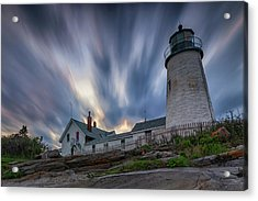 Cloudy Sunset At Pemaquid Point Acrylic Print