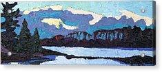 Cloudy Sunset Acrylic Print by Phil Chadwick