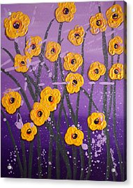 Cloudy With A Chance Of Flowers Acrylic Print by Linda Powell