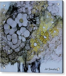 Acrylic Print featuring the painting Cloudy With A Chance Of Sunshine by Joanne Smoley
