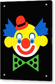 Clown Acrylic Print by Asbjorn Lonvig