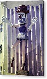 Clown Ballerina Acrylic Print by Garry Gay