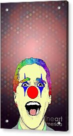 clown Christian Bale Acrylic Print