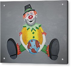 Clown Eleven Acrylic Print by Frank Parrish