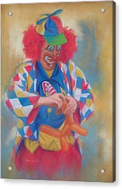 Clown Making Balloon Animals Acrylic Print by Diane Caudle