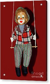 Acrylic Print featuring the photograph Clown On Swing By Kaye Menner by Kaye Menner