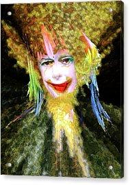 Clown Acrylic Print by Robert Sloan