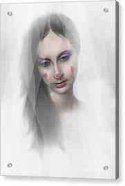 Clown Tear Acrylic Print