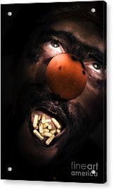 Clown With Capsules In Mouth Acrylic Print by Jorgo Photography - Wall Art Gallery