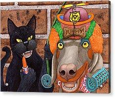 Clowning Around Acrylic Print by Catherine G McElroy
