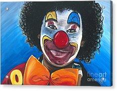 Clowning Around Acrylic Print by Patty Vicknair
