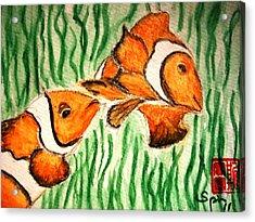 Clowning Fish Acrylic Print by Spencer  Joyner