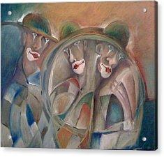 Clowns Acrylic Print by Gyorgy Szilagyi