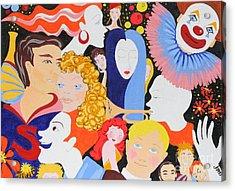 Send In The Clowns Acrylic Print