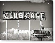 Club Cafe Acrylic Print
