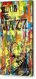 Club De Jazz Acrylic Print by Sean Hagan
