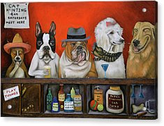 Acrylic Print featuring the painting Club K9 by Leah Saulnier The Painting Maniac