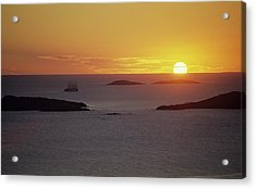 Club Med Sailing Into Sunset Acrylic Print