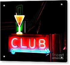 Club Neon Sign 16x20 Acrylic Print by Melany Sarafis