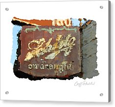 Club Tap Sign Acrylic Print