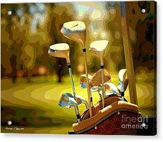 Clubs II Acrylic Print