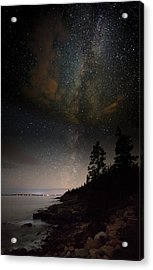 Clutching The Galaxy Acrylic Print by Brent L Ander