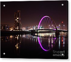 Clyde Arc Night Reflections Acrylic Print