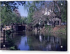 Co Canal Lockhouse Acrylic Print by Dennis Dismachek