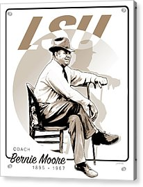 Coach Bernie Moore Acrylic Print by Greg Joens