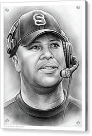 Coach David Shaw Acrylic Print