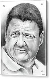 Coach Orgeron Acrylic Print