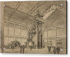 Coal Mine Hoist Acrylic Print by Percy Hale Lund