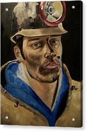 Coal Miner Acrylic Print by Mikayla Ziegler
