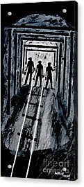 Coal Miners At Work Acrylic Print