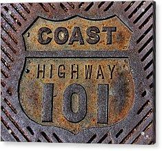 Coast Highway 101 Acrylic Print by Russ Harris