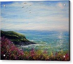 Coast Of Cornwall Acrylic Print by Ann Marie Bone