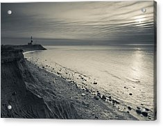Coast With A Lighthouse Acrylic Print by Panoramic Images