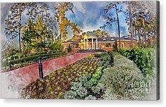 Coastal Carolina University Digital Watercolor Acrylic Print by David Smith