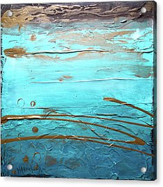 Coastal Escape I Textured Abstract Acrylic Print