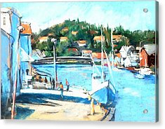 Coastal Fishing Village Acrylic Print